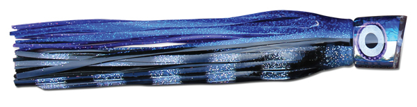 Brutus - Blue Paua Shell/Silver Mirror w/ Silver Eyes - Blue/Silver/Black Bars over Purple/Black